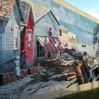 Good concept: Town history explained through 47 murals.
